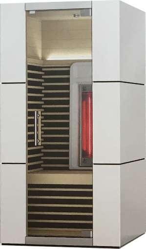 Premium Infrarot Design Kabine 100 x 105 x 195 cm